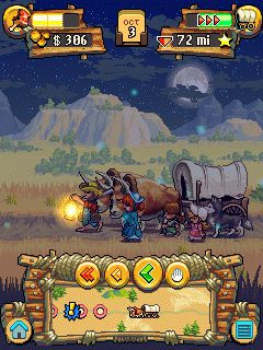 Free download java game Oregon Trail 2 Gold rush from Gameloft for mobil phone, 2010 year